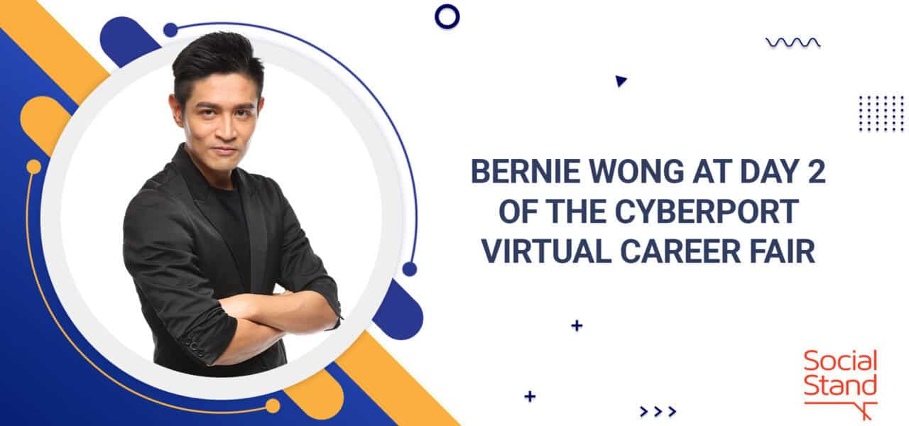 Bernie Wong at Day 2 of the Cyberport Virtual Career Fair